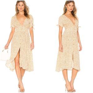 Faithfull The Brand Floral Print Midi Dress NWT
